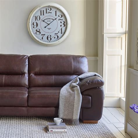3 seater brown leather sofa clayton 2 seater sofa in brown leather oak furniture land