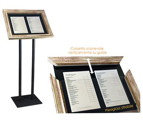 cornici per menu portamenu elegante per ristorante elbaworld grafica