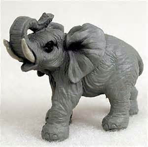 Elephant Figurines by Elephant Mini Resin Hand Painted Wildlife Animal Figurine