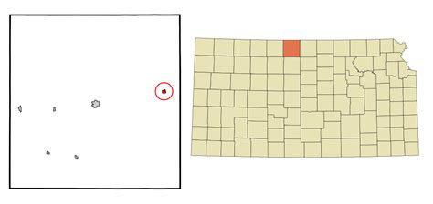 Smith County Search File Smith County Kansas Incorporated And Unincorporated Areas Lebanon Highlighted Svg
