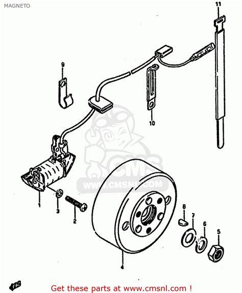 1985 Suzuki Lt50 Parts Suzuki Lt50 1985 F Magneto Schematic Partsfiche