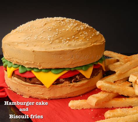 Want Fries With Your Hamburger by Hamburger Cake In Prosciutto Of Perfection