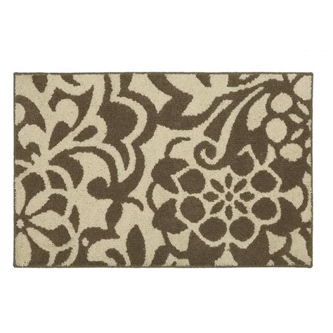 scatter rugs mohawk home simpatico taupe starch 2 ft 6 in x 3 ft 9 in scatter rug 547530 the home depot