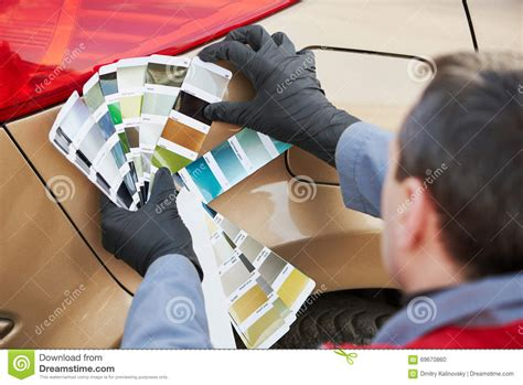 choosing paint color vector cartoondealer 72671451