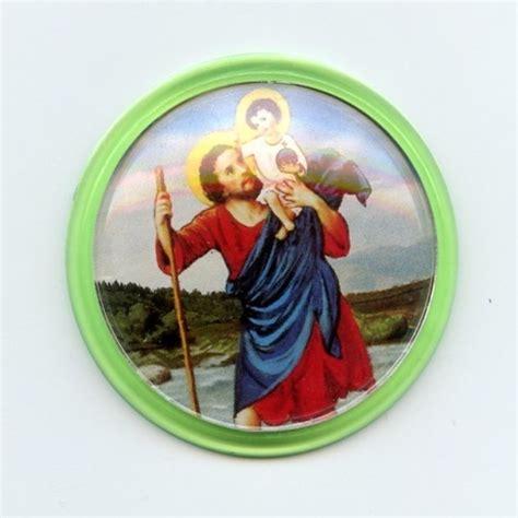 Aufkleber Christophorus by Autoplakette Christophorus Mit Jesus Plastik Gr 252 N Rund Ca