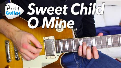 tutorial guitar mine sweet child o mine intro guitar lesson tutorial guns n