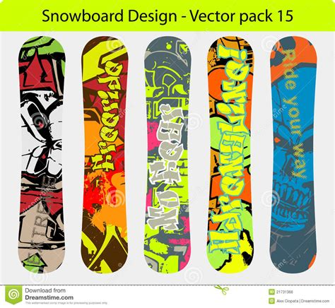 snowboard design pack 15 royalty free stock image image