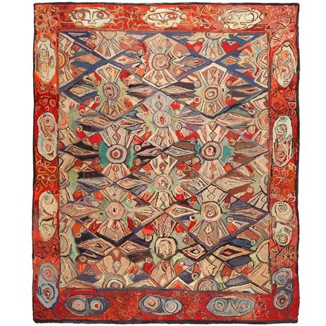 antique hooked rugs breathtaking antique hooked rug for sale at 1stdibs