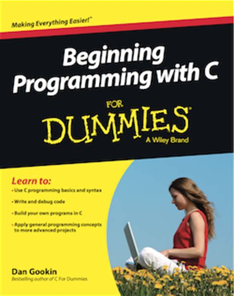c language books beginning programming c for dummies
