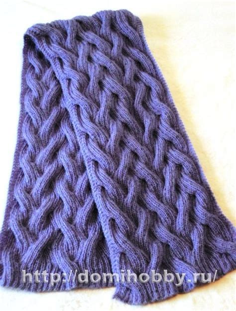russian knitting patterns russian site reversible cable scarf pattern with chart
