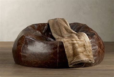 high quality leather bean bag chairs husk armchair
