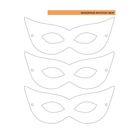 Mask Template by 15 Amazing Masquerade Mask Templates Sle Templates