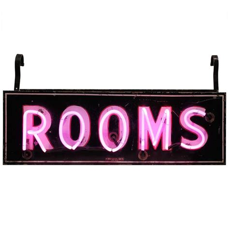 1950 s original double sided neon rooms sign at 1stdibs