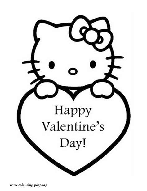 valentine s day hello kitty and a valentine s heart
