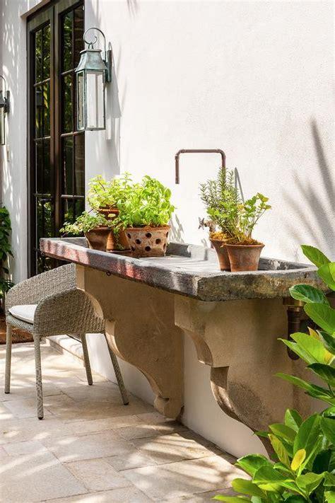 Garden Sink Ideas Outdoor Concrete Garden Sink Transitional Garden