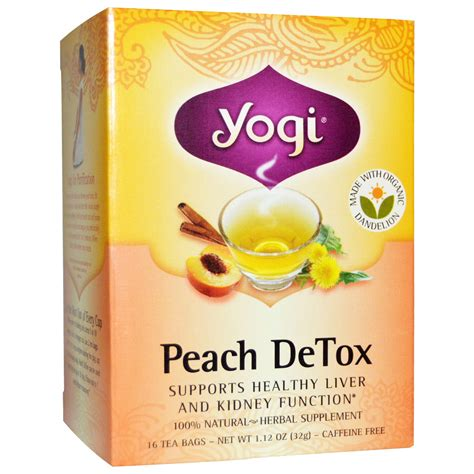 Detox Tea From by Yogi Tea Detox Caffeine Free 16 Tea Bags 1 12 Oz