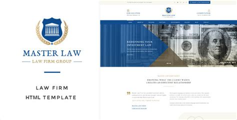 themeforest lawyer law master attorney lawyer html template by