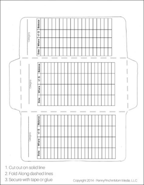envelope budget system template how to make your own envelopes free template