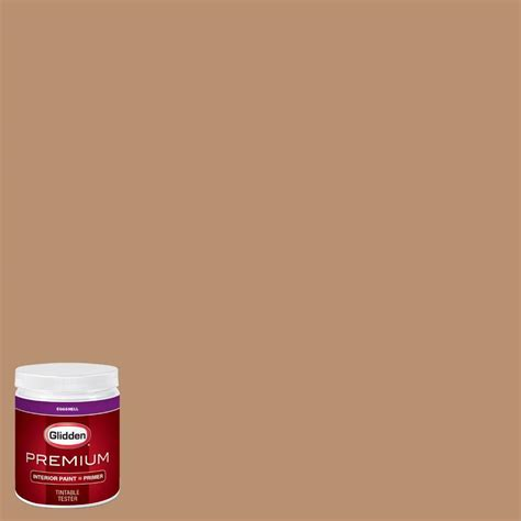glidden premium 8 oz hdgo38d light autumn brown eggshell interior paint with primer tester