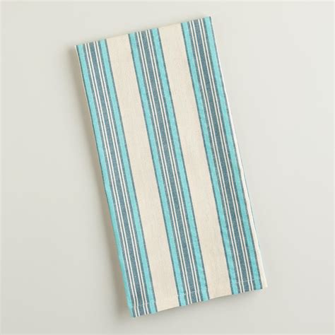 Blue Kitchen Towels Blue Striped Seersucker Kitchen Towels World Market