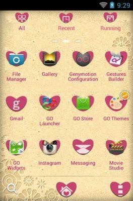 themes love android love android theme for go launcher androidlooks com