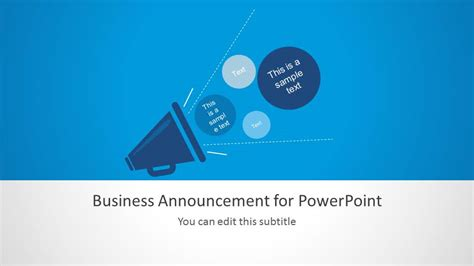 template for announcement business announcement template for powerpoint slidemodel