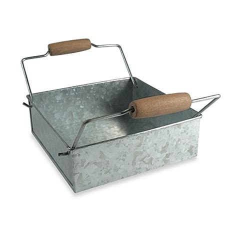 bathroom napkin tray artland 174 oasis galvanized steel napkin holder bed bath