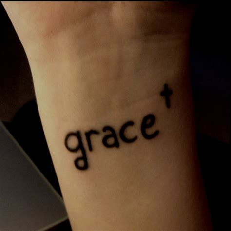 tattoo meaning grace my first tattoo grace on the wrist ink love it