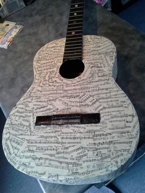 How To Decoupage A Guitar - 28 best images about decorated guitars on rock