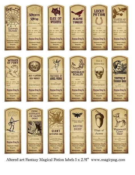 printable apothecary labels 6 best images of printable potion bottle labels