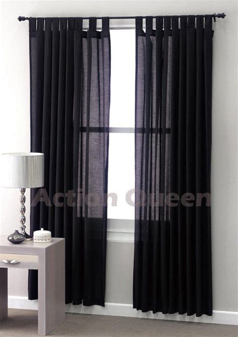 black linen curtains club linen jet black sheer curtains 180 x 2 x 213cm 33