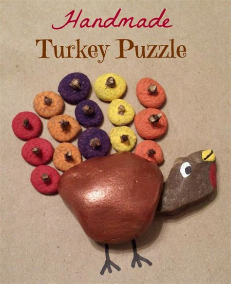 Handmade Turkey - handmade turkey puzzle for thanksgiving edventures with