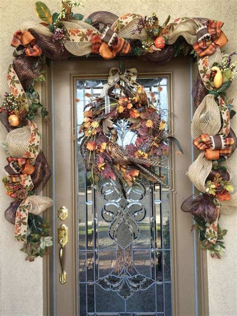 Door Garland by Best 25 Fall Front Doors Ideas On Fall