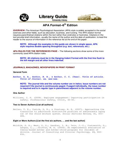 format apa online free sle apa format template free download