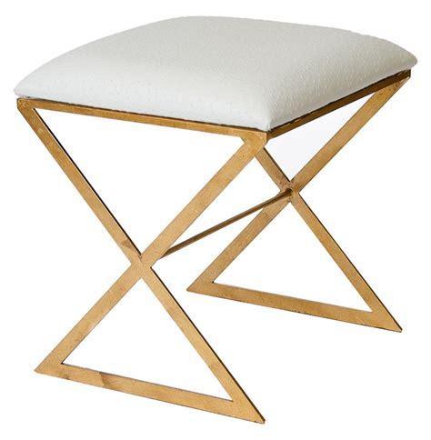 white ottoman stool chi hollywood regency gold white ostrich stool ottoman