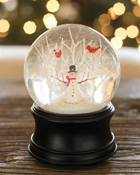 Find Your Home Decor Style by Snowman Musical Snow Globe Balsam Hill