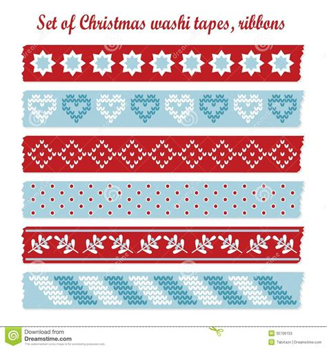 cute pattern set set of vintage christmas washi tapes ribbons el stock