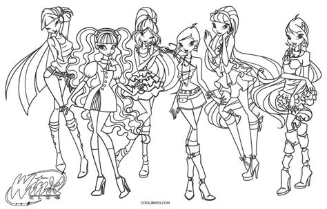 free printable winx coloring pages for cool2bkids