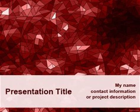 ppt templates free download red red kaleidoscope powerpoint template