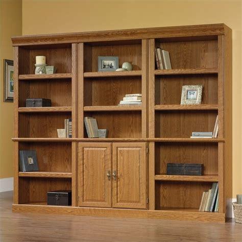 Sauder Oak Bookcase Orchard Wall Bookcase In Carolina Oak Finish 402172 3 Pkg