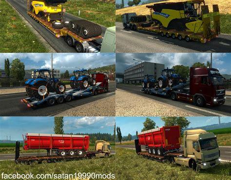 game modding euro truck simulator 1 ets2 agricultural trailer mod pack v2 2 1 simulator