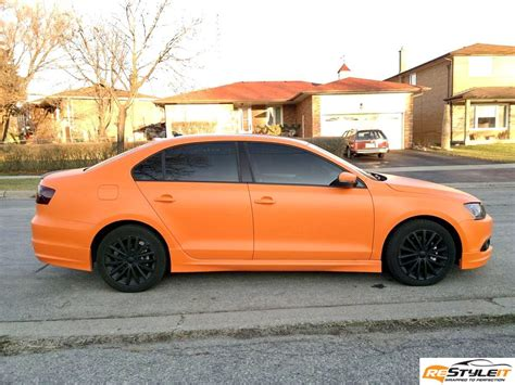 volkswagen orange matte orange volkswagen jetta tdi vehicle customization