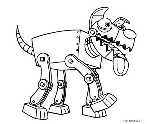 robot dog coloring page free printable robot coloring pages for kids cool2bkids