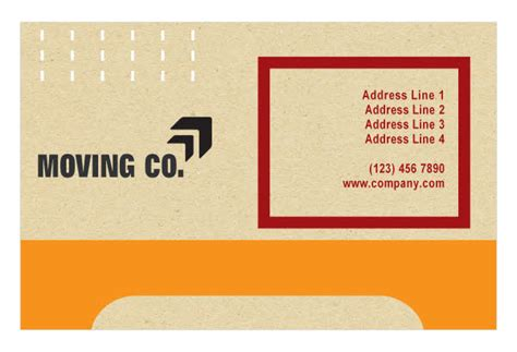 moving company business card template movers moving company print template pack from serif