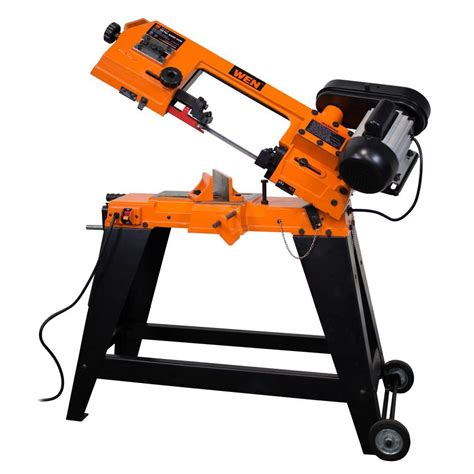 portable metal bandsaw stand metal pipe bandsaw cutting band saw wen wheeled stand