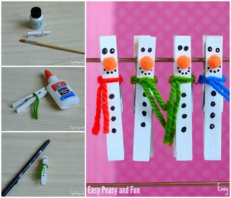 clothespin crafts for clothespin snowman craft for to make easy peasy and