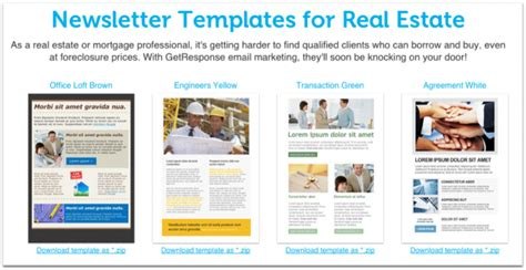 12 Best Real Estate Newsletter Template Resources Placester Real Estate Newsletter Templates Free