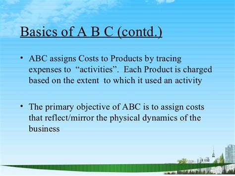 Mba Based by Activity Based Costing Ppt Mba Finace