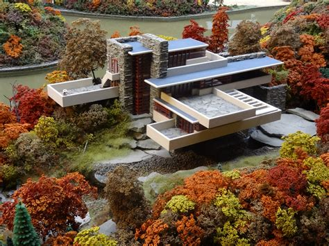Falling Water House | file fallingwater miniature model at mrrv carnegie