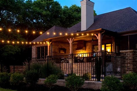 patio lights custom string lights light up nashville design and